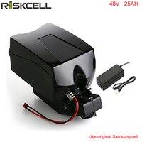 48v 1000w electric bike battery 48V 25Ah battery pack for 48V bafang/8fun 1000w motor with Frog Case+Chargrer For Samsung cell