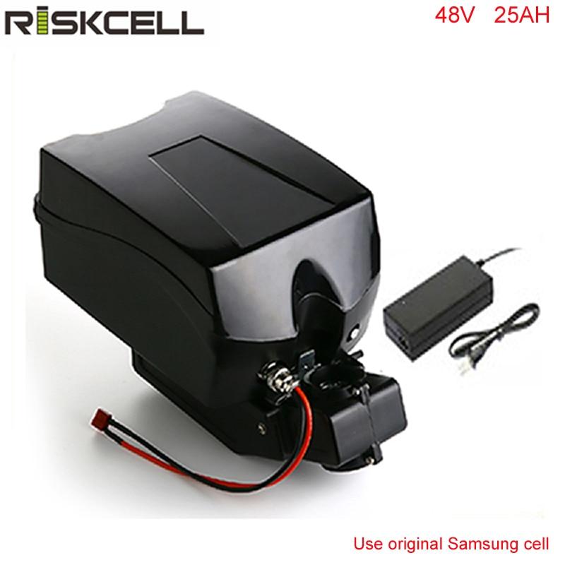 48 В 1000 Вт Электрический велосипед батарея 48 В 25Ah Аккумулятор для 48 В bafang/8fun 1000 Вт двигателя с лягушкой Case + Chargrer для samsung ячейки