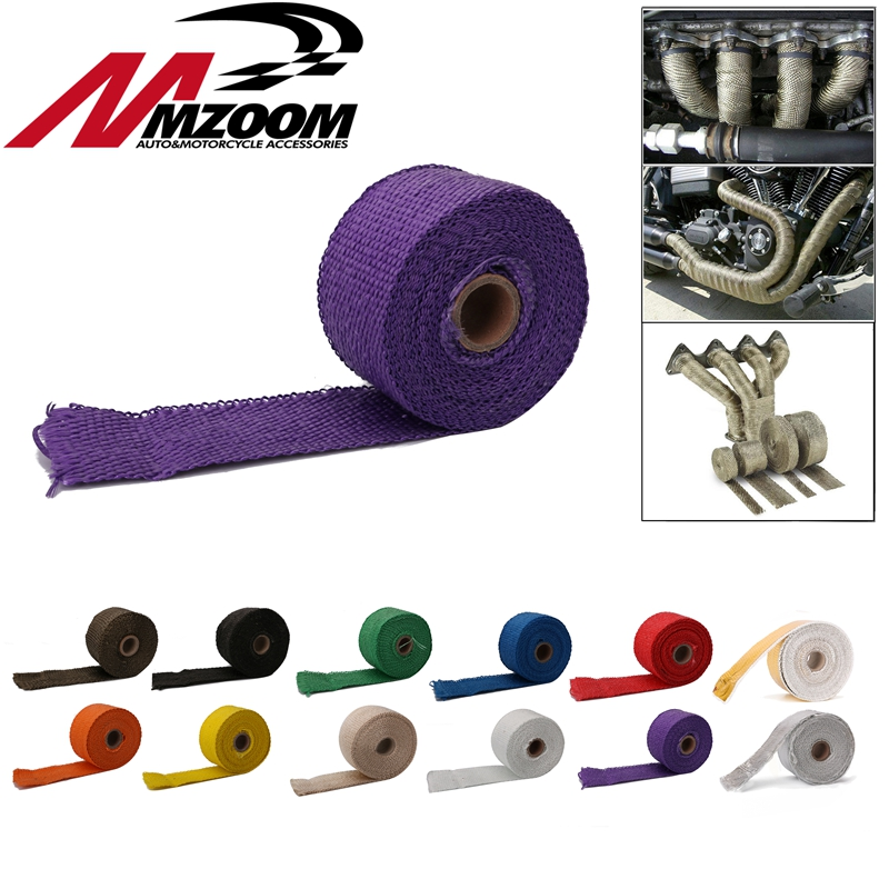 Ties Pipe-Header Downpipe Stainless-Steel High-Exhaust 4 2inch X5m Heat-Wrap-Resistant