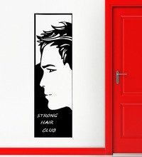 2015 Hot Selling Salon Vinyl Wall Decal Man Barbershop Beauty Art Wall Sticker Salon Hair Shop Sticker Decor