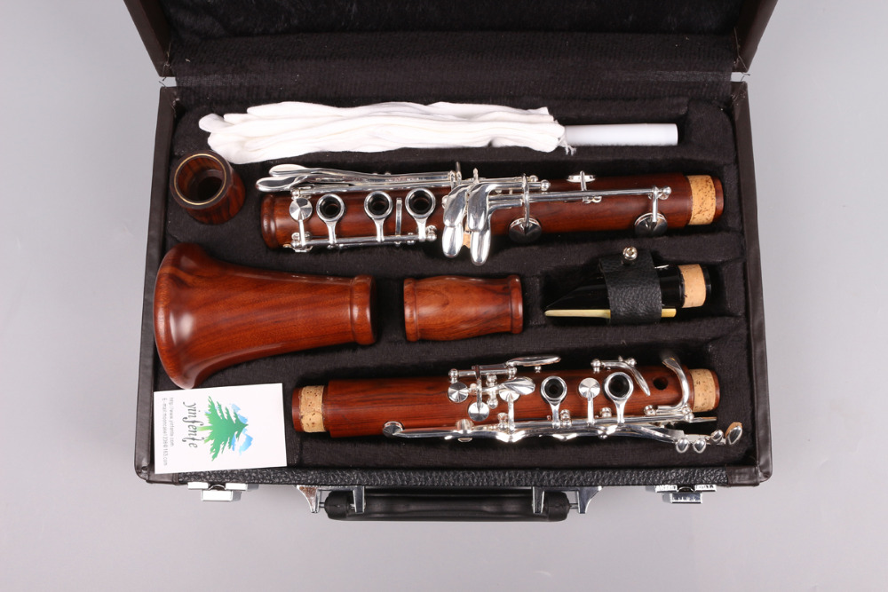 CLARINET rosewood Bb Key 17Keys Nice Sound nickel Plated Rosewood clarinet