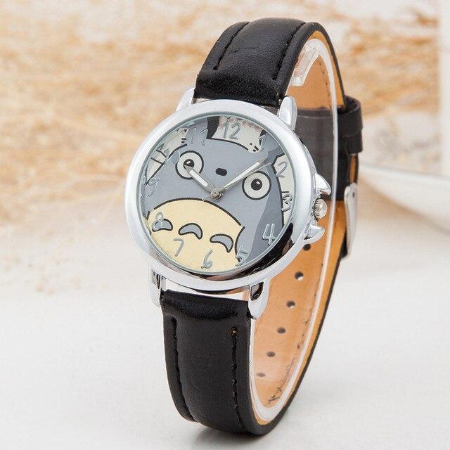 Cute Totoro Pattern PU Leather Strap Quartz Watch