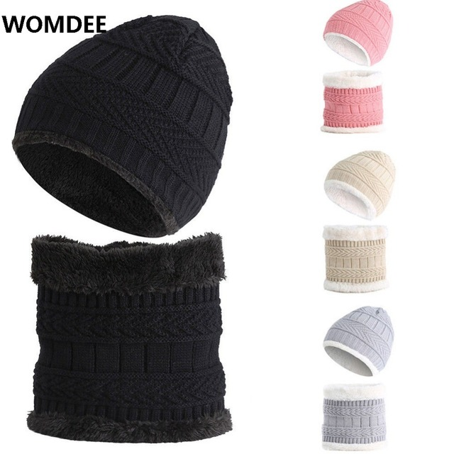 aa792d02819 Womdee 2018 Hot Sale Child 2pcs Super Warm Winter Balaclava Wool Beanies  Knitted Hat and Scarf