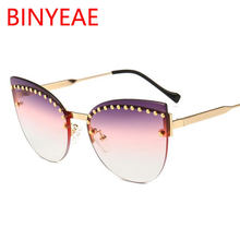 Óculos de sol exclusivo do sexo feminino novo 2018 grife de alta moda de  luxo gradiente d7a655757b