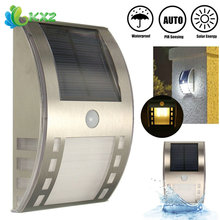 Waterproof Solar Power 3 LED Light PIR Motion Sensor Outdoor Garden Yard Pathway Street Stair Step Security Wall Night Lamp