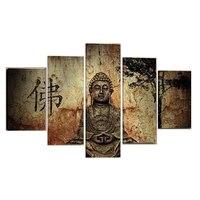 Enorme Buda pintura al óleo del arte abstracto Canvas pared moderna decoración set no Marcos