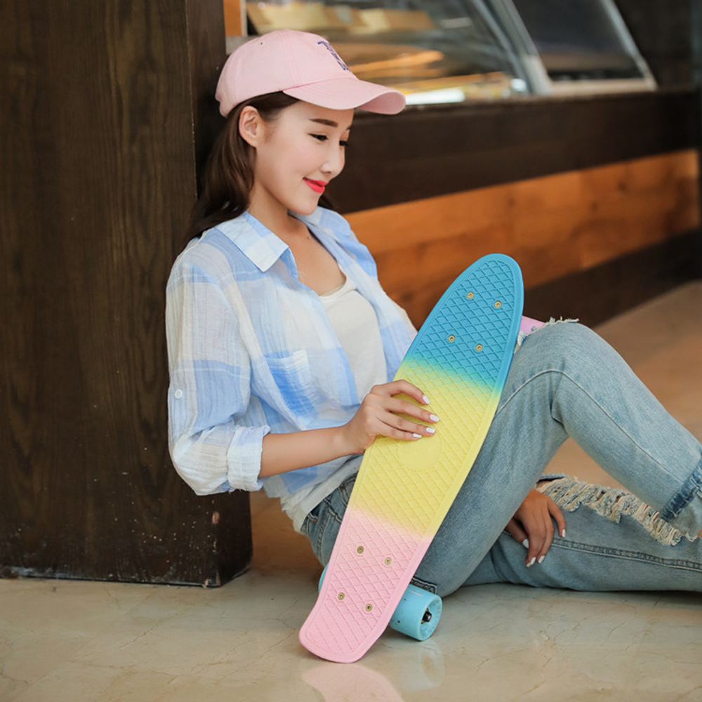 Children's Scooter Top Quality Pastel Fade SkateBoard Style Board Complete 22
