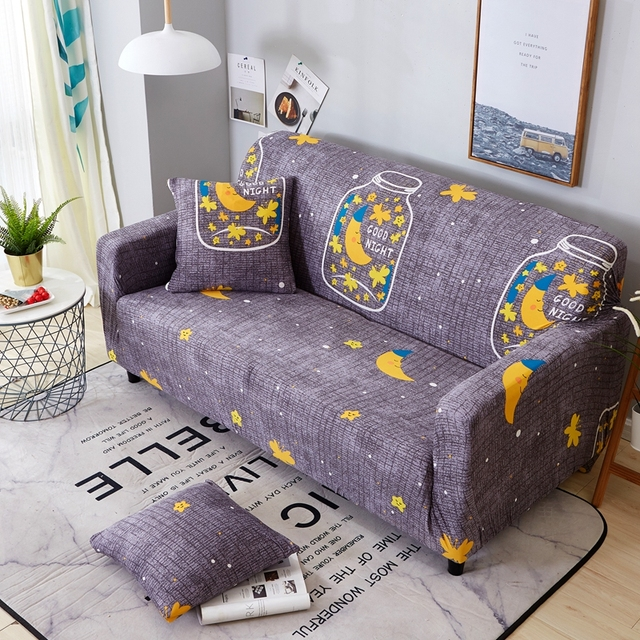 Dengan Harga Murah Bintang Universal Stretch Sofa Sudut Slipcovers Untuk Ruang Tamu Dekorasi Rumah