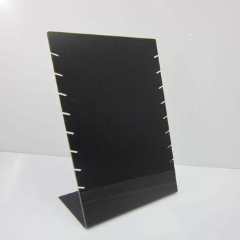 Black Plastic Acrylic Necklace Organizer Jewelry Stand Holder With 8 Slots