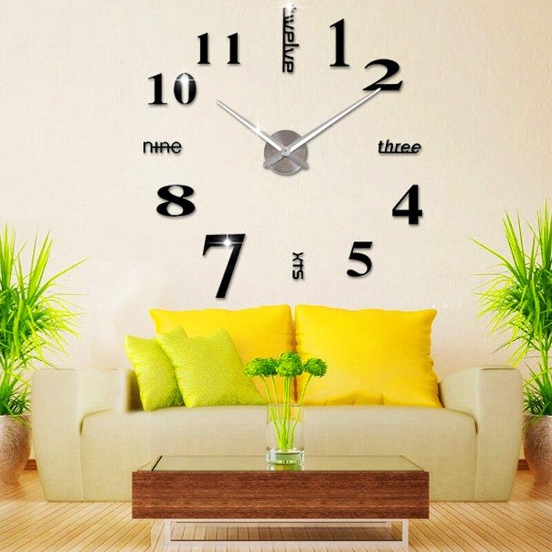 Free Shipping DIY Wall Clock 3D Mirror Surface Sticker Home ...
