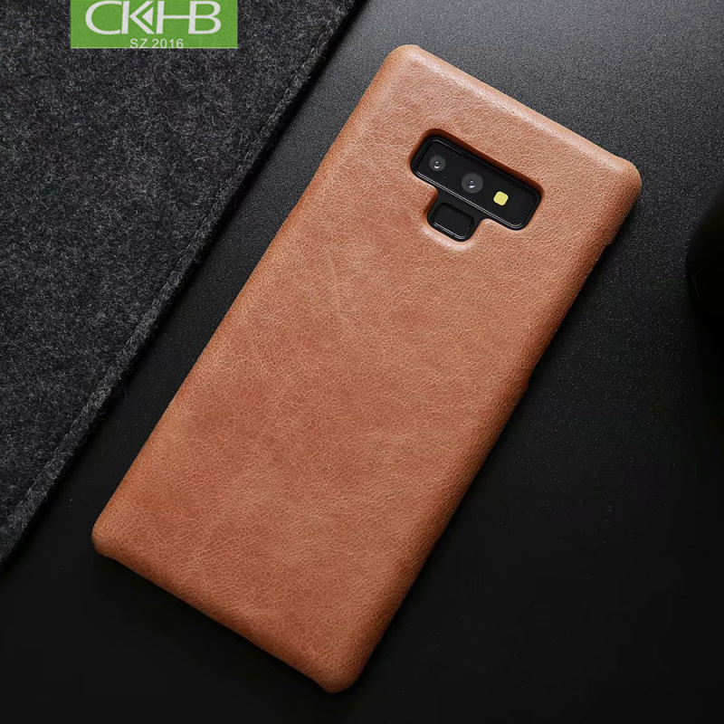 CKHB Frosted cowhide back cover case For Samsung galaxy S10 S10e Plus Real leather vintage back