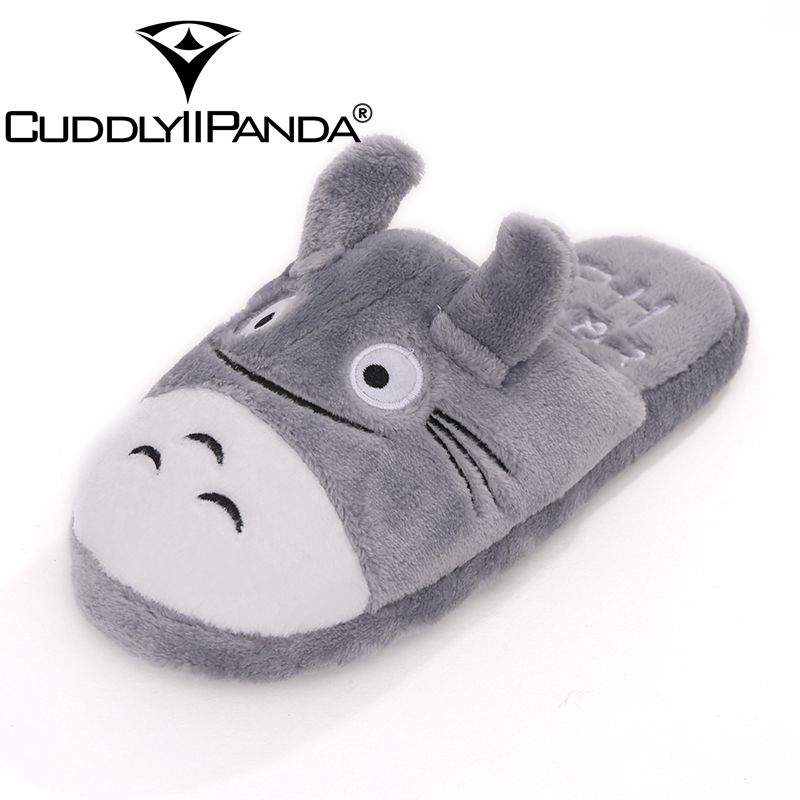 2018 Hot Sale Good Quality lovely Cute Totoro Lovely Cat Men &women Indoor Winter and Spring Warm Cartoon Slippers Sandalias hot sale good quality inductive