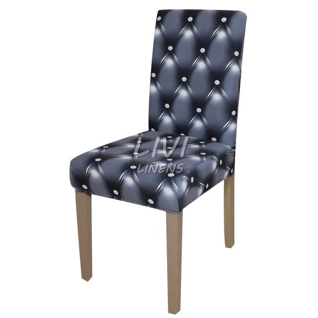 Printing Zebra Leopard Printing Spandex Stretch Dining Chair Cover Machine Washable Restaurant