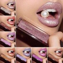 Gloss Lips Liquid-Lipstick Makeup Cosmetics Shimmer Metallic Matte Waterproof HANDAIYAN