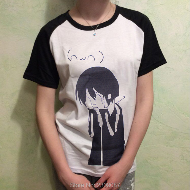 Japanese Anime Noragami T Shirt Harajuku Short Sleeve Cartoon Aragoto Yato T-Shirts Cosplay Unisex Casual Kawaii Tops Tee WXC
