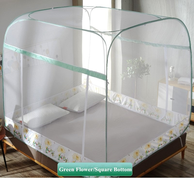 Portable Lightweight Mosquito Net No Bottom Easy Install Bed Net Insect Reject Large Space Yurt Mosquito Net For 1.5m 1.8m BedPortable Lightweight Mosquito Net No Bottom Easy Install Bed Net Insect Reject Large Space Yurt Mosquito Net For 1.5m 1.8m Bed