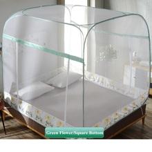 Przenośny lekki moskitiera bez dna łatwa instalacja moskitiera na łóżko owady odrzucić duża przestrzeń jurta moskitiera dla 1 5 m 1 8 m łóżko tanie tanio nnWZ136 Camping Podróży OUTDOOR Domu Uniwersalny Owadobójczy traktowane Składane Poliester bawełna changbvss Mongolski jurta moskitiera