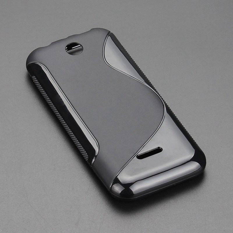 8 Color S-Line Anti Skidding Gel TPU Slim Soft Case Back Cover For Nokia 225 Dual SIM/225 Mobile Phone Rubber silicone Cases