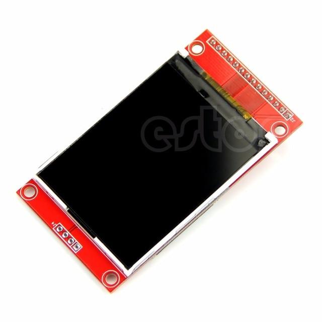 "TFT 2.4 ""240x320 ILI9341 3.3 فولت/5 VSPI LCD المنفذ التسلسلي وحدة + PBC محول مايكرو SD"