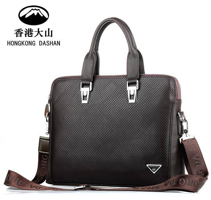 hk dashan brand 2016 new business man briefcases high quality pu leather black 15 laptop bags black classic men's handbag big сумка givenchy fc150411 hk 15 pervert