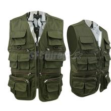 Fly Fishing Vest Mens Outdoor Multi-Pocket Quick-Dry Fishing Hunting Clothes Male Vest Overalls Wear Photography Vests