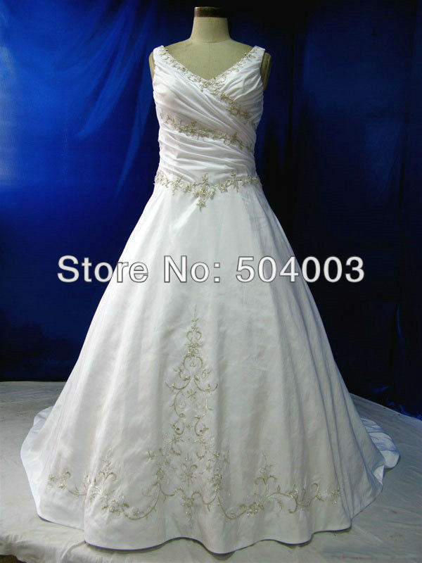 Popular Wedding Gowns Colored Embroidery-Buy Cheap Wedding Gowns ...
