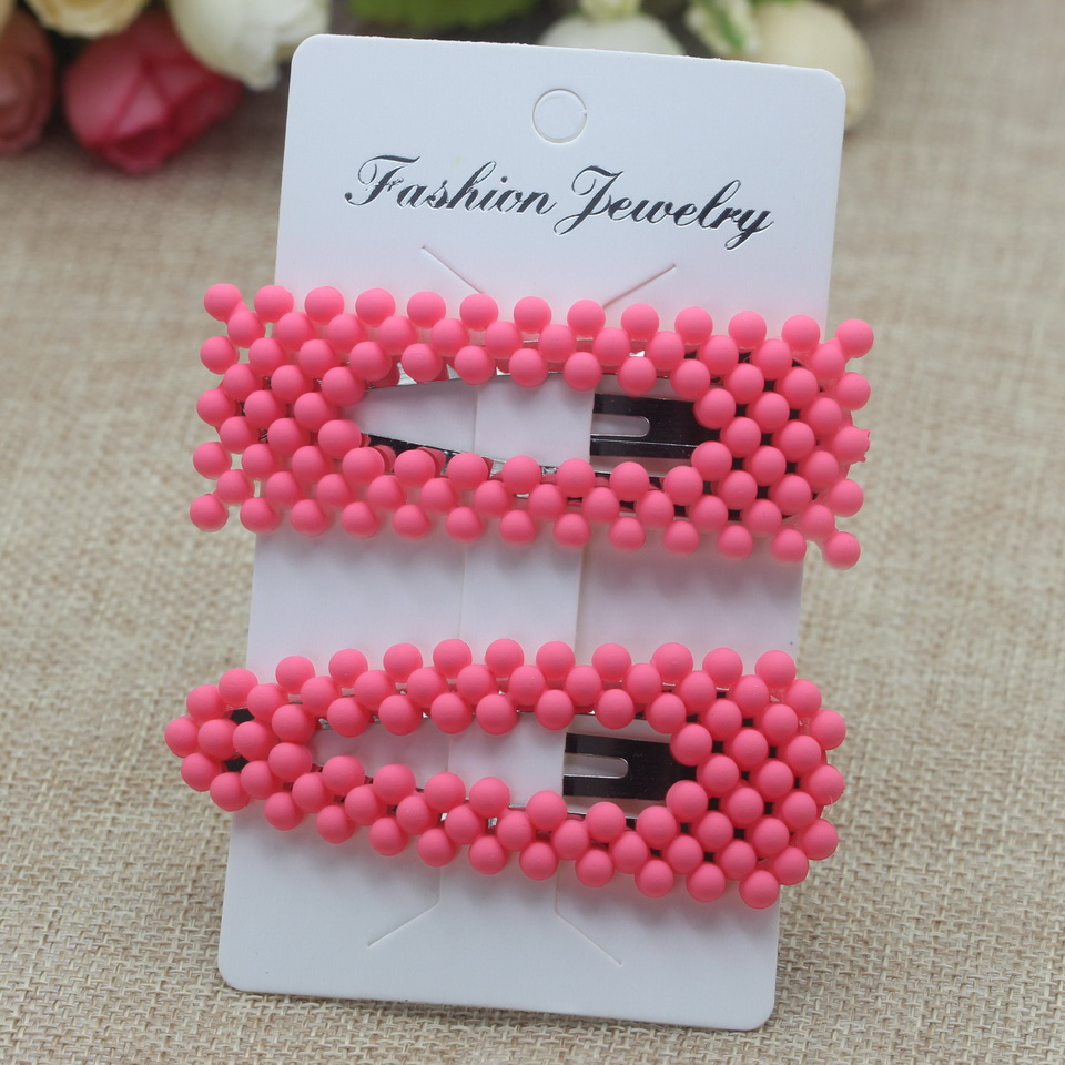 Fashion Pearl Imitation Beads Hair Clip Barrette Colorful Pearl Flower Stick Hairpin For Girls Hair Styling Accessories