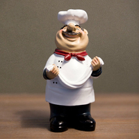 European Fashion Creative Chef Resin Figurine Gift Shop Table Decorations Pastry Chef Model Display Arab Chef Party Decor
