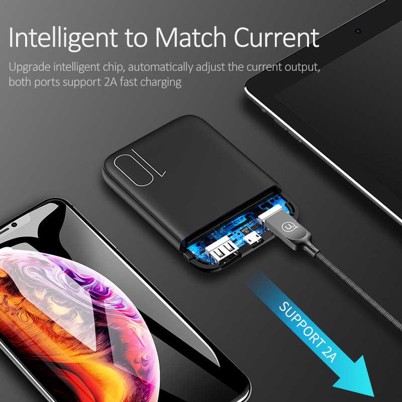 USAMS портативное мини-зарядное устройство 10000 мАч, светодиодный светильник, внешний аккумулятор, зарядка через usb, зарядное устройство для Xiaomi iphone XS, samsung, упаковка