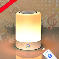 Bluetooth Wireless LED Desk Lamp And Sound Music Speaker And Alarm Function Table Lamp TF Speakerphone