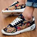 Free Shipping Men's Casual Shoes Fashion Print Casual Shoes Lacing Breathable Outdoor Shoes Autumn Size39~44
