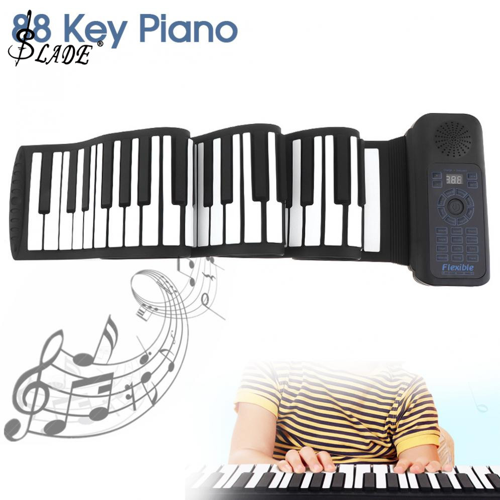 88 Keys USB MIDI Roll Up Piano Electronic Piano Portable Silicone Flexible Keyboard Organ Built-in Speaker with Sustain Pedal88 Keys USB MIDI Roll Up Piano Electronic Piano Portable Silicone Flexible Keyboard Organ Built-in Speaker with Sustain Pedal