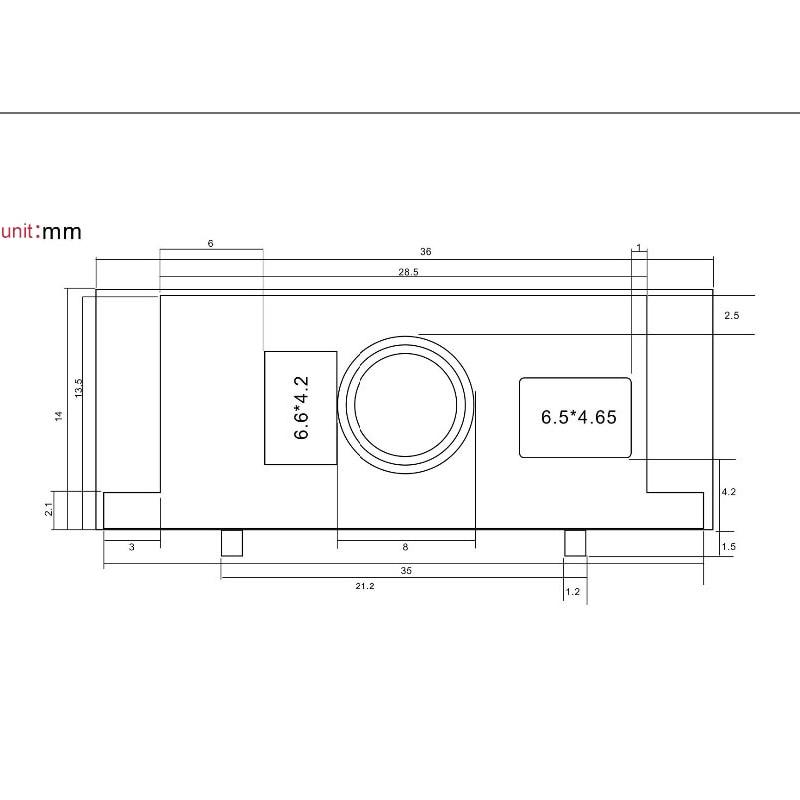 Scanners de código de barras módulo Max Paper Size : Barcode