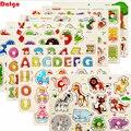 30cm Baby Spielzeug Montessori Holz Puzzle Hand Greifen Bord Pädagogisches Holz Puzzles für Kinder Cartoon Tier Fahrzeug Kind Geschenk