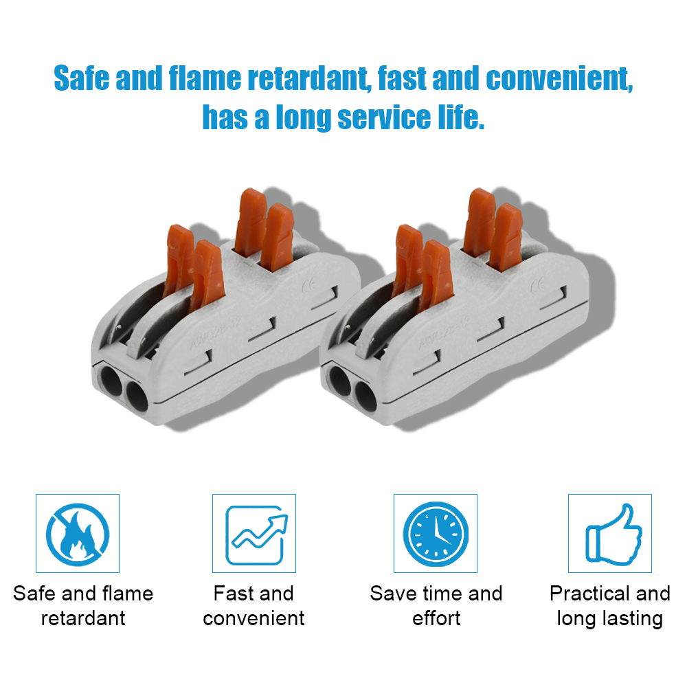 15pcs 4 Way Flame Retardant Cable Connector Box Set Universal Fast Electric Wire Connectors Kit Quick Install Terminals in Connectors from Lights Lighting