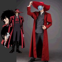 Alucard Cosplay Men Costumer Dress Cool The Song of Hell Outfit Hot Sale E22