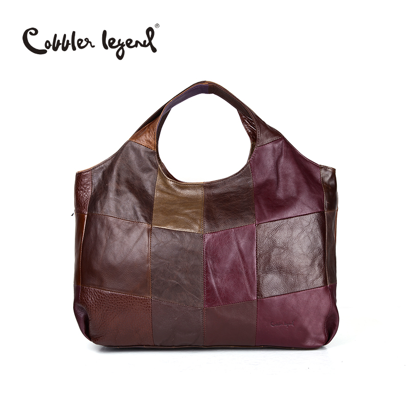 Cobbler Legend 2019 New High Quality Women s Handbags Multi Colors Genuine Cow Leather Tote Lady