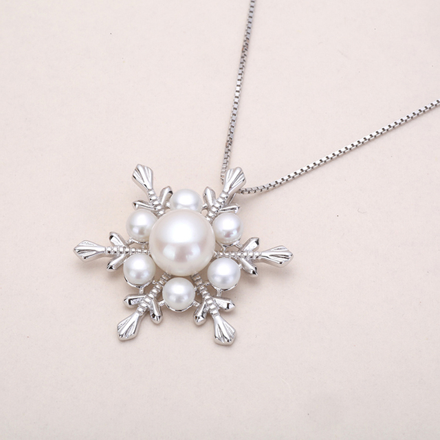 Natural Pearl 925 Sterling Silver Pendant