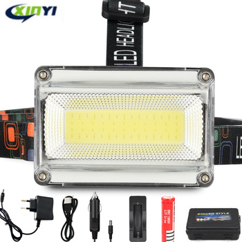 10000LM Powerful COB LED Headlight DC Rechargeable Headlamp 3Modes Waterproof Head Torch with 18650 Battery for Hunting Fishing 1
