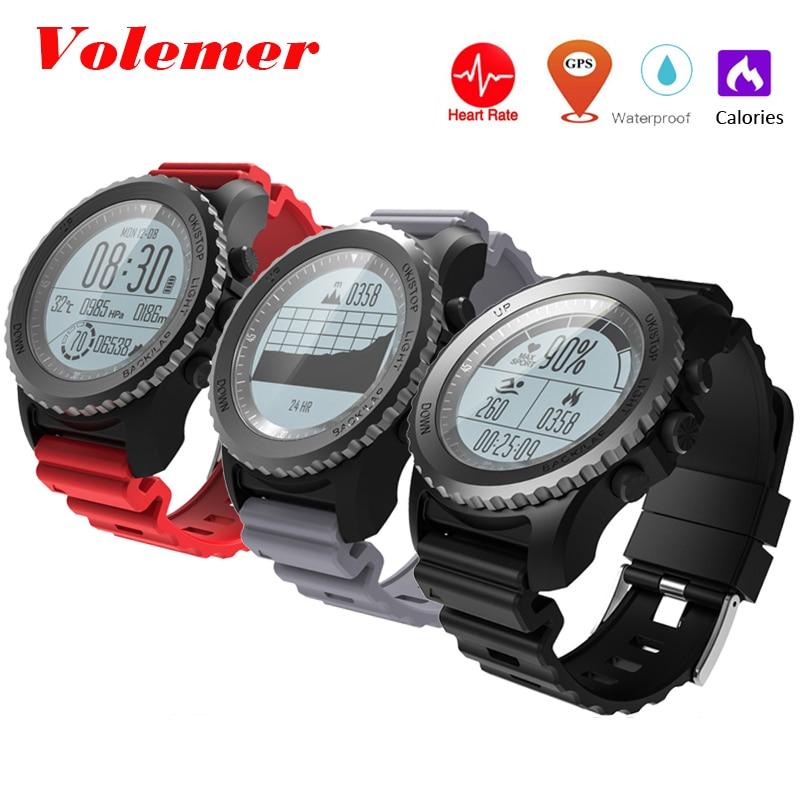 все цены на Volemer GPS Outdoor Sport Smart Watch S968 Sport Wristwatch IP68 Waterproof Swimming Snoeling Heart Rate Fitness Tracker PK S958 онлайн