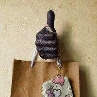 3pcs/set Creative Resin Wall Hooks Decorative Hand Shape Crafts Buddha Mural Shelf Cell Phone Holder Home Accessories, Best Gift