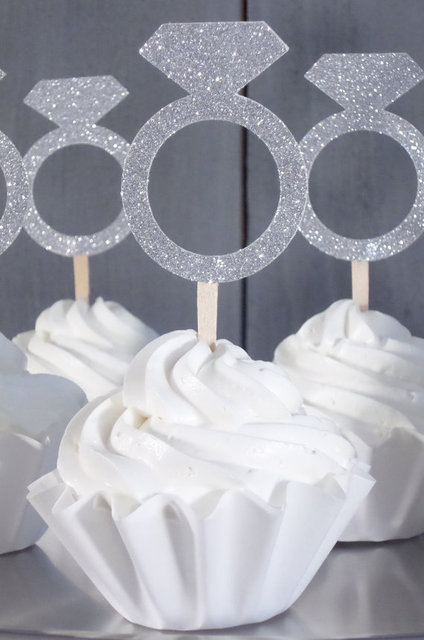 Engagement Ring cupcake toppers wedding bridal baby shower ...