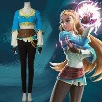 Cosplay The Legend of Zelda Breath of the Wild Anime Princess Zelda Halloween Costume Carnival Suit Adult For Women Custom Made