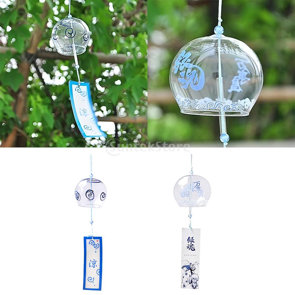 Glass Wind Chime Bell Japenese Style Home Garden Hanging Decor DIY ...