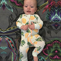 2017 Spring Baby Romper Long-Sleeved Cotton Similar Baby Boy Girl Clothing Children's Clothing Clothing Pineapple Set Body Suits