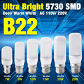 7/9/12/15/20/25W Super Bright B22 AC 110V/220V Milky Shell 5730SMD LED Corn Bulb Cool Warm White Lights