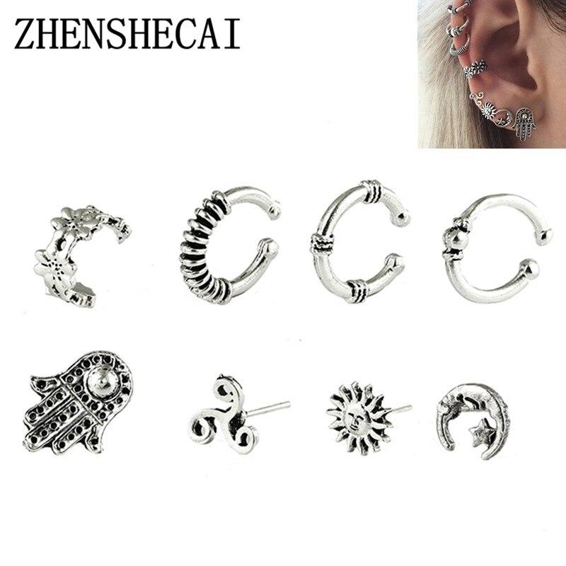 2017 Hot Sales Set Earrings Trendy Cute Flower Sun Stud Earrings For Women New Vintage Fashion Jewelry
