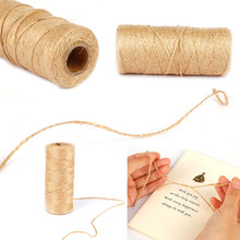 100 M Natuurlijke Jute Touw Jute String Hennep Touw Party Wedding Gift Wrapping Cords Discussie Diy Scrapbooking Bloemisten Craft Decor(China)