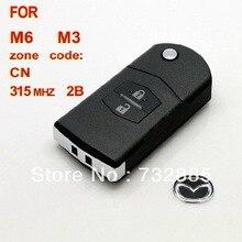 Высокое качество для Mazda M6 M3 Флип Дистанционный Ключ 2 Кнопки 315 МГЦ (С 4D63) Оптом и В Розницу