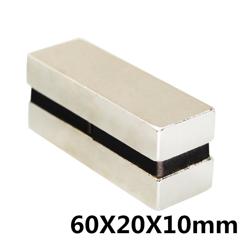 1Pcs 60x20x10mm Neodymium Magnet Block N35 Permanent Super Strong Powerful Small Magnetic Magnets Square1Pcs 60x20x10mm Neodymium Magnet Block N35 Permanent Super Strong Powerful Small Magnetic Magnets Square